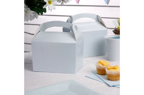 Set 8 cutii de hârtie pentru gustări Neviti Polka Dot, albastru Decorațiuni ingenioase