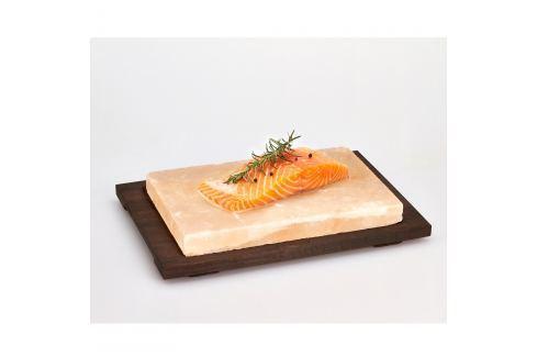 Tavă din piatră de sare Bisetti Salt Plate, 38 x 27 cm Tocătoare