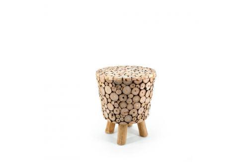 Scăunel din lemn de tec Moycor Marsella Spheres Scăunele