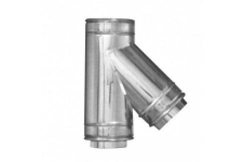 RAMIFICATIE LA 45 DIN INOX PENTRU COS DE FUM DUBLU PERETE D.INT150/D.EXT200 Cosuri fum din inox dublu perete