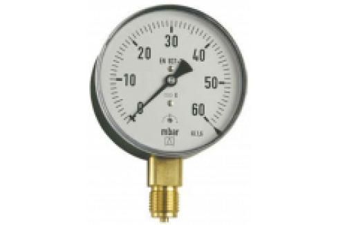 "MANOMETRU GAZE, CARCASA METALICA, RADIAL, 0-1000mbar, D63mm, G1/4"" Manometre si termometre"
