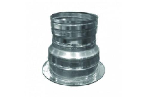 RACORD DIN INOX PT TRECERE DE LA COS FUM DUBLU PERETE LA TUB FLEXIBIL D.INT250/D.EXT300-D.250 Tuburi/racorduri flexibile inox