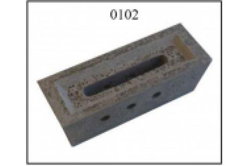 DUZA CERAMICA REFRACTARA PT. CAZAN GAZEIFICARE VIGAS, 25-80kW, 305x110x100mm, 3 GAURI, Ceramica refractara
